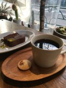 Chocolate cake & coffee at cotito