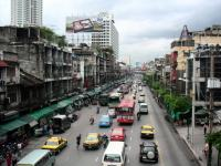 Chit Lom street seen from pedestrian bridge