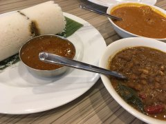 Puttu, chicken and black chickpea curries at South Park, Asakusa