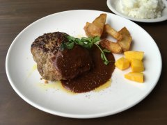 Hamburger steak at Augustus Gastropub, Shibuya
