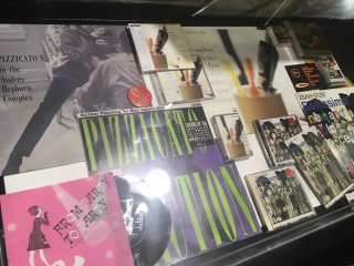 Pizzicato Five memorabilia at Pied Piper House (Tower Records Shibuya 5F)