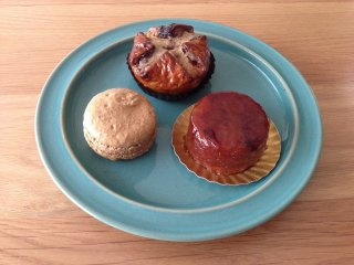 Turquoise plate & Aigre Douce treats